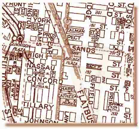 this map of the area is a circa 1935 geographia and shows the street layout just before many of the streets were demapped and mass demolitions for housing