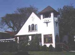 Church at entrance to Sea Gate