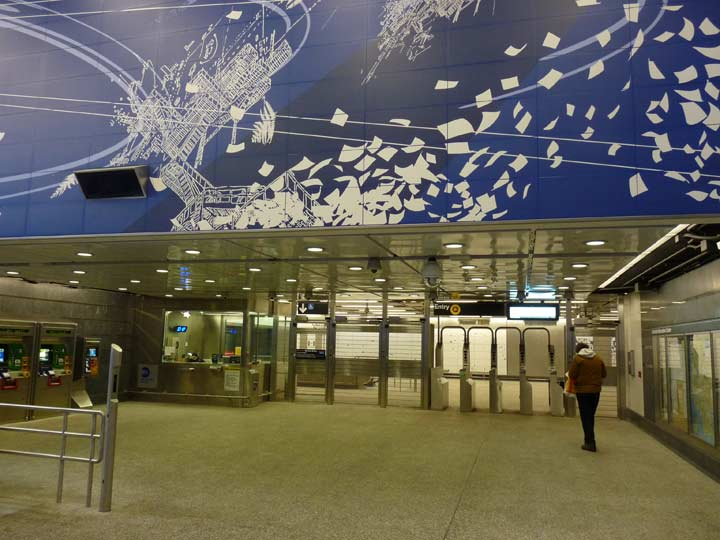 2nd avenue and its subway part 2 forgotten new york no other artist dominates their respective stations like boston born artist sarah sze 1969 does with her blueprint for a landscape which covers every malvernweather Choice Image