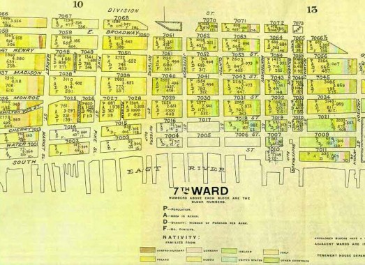 as you can see on this map of the 7th ward drawn prior to the construction of the manhattan bridge though you see birmingham street between madison and