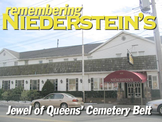 A Venerable Relic Of The Era When Outings To Cemeteries Were Sunday Rage Niederstein S Restaurant Stood On Metropolitan Avenue Formerly