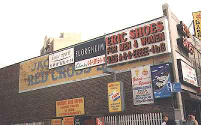 OLD ADS IN QUEENS. Ancient ads for Planters, Mobil and Kodak on the ...