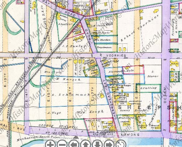 sheepshead bay brooklyn map The Two Sheepshead Bay Roads Forgotten New York sheepshead bay brooklyn map