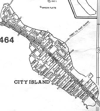 City Island Map CITY ISLAND   Forgotten New York