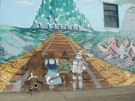 A Chocolate Manufacturer On Union Avenue And Richardson Street Has A U201cWizard  Of Ozu201d Themed Mural By Peak And Diva. Follow The Yellow Bricked Subway  Ballast ...