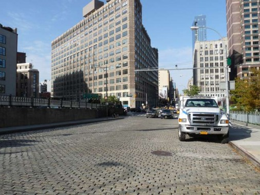 Though Its One Of The Busiest Streets Running South In Tribeca Varick Street Is Still Paved In Belgian Blocks At The Holland Tunnel Approach