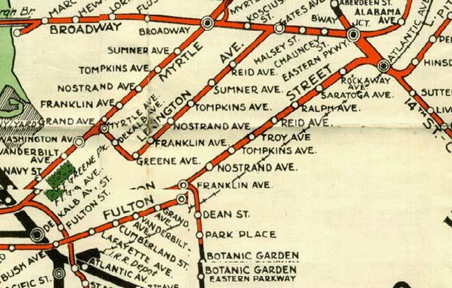 Bmt Subway Map.Lexington Avenue El Brooklyn Forgotten New York