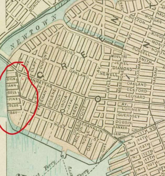 map of greenpoint brooklyn ny Lost Streets Of Greenpoint Forgotten New York map of greenpoint brooklyn ny