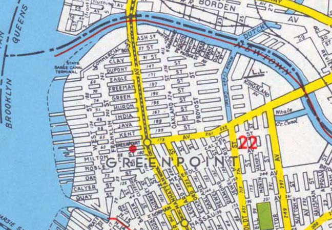 map of greenpoint brooklyn Lost Streets Of Greenpoint Forgotten New York map of greenpoint brooklyn