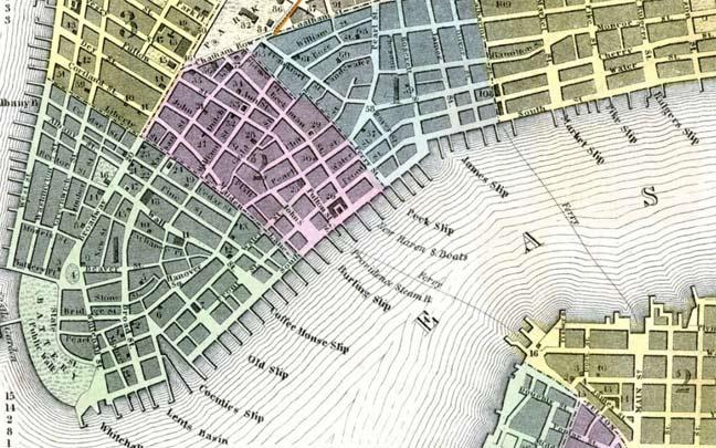 "... SLIPS,"" Financial District, Lower East Side - Forgotten New York"