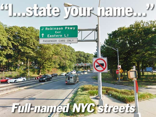 NYC STREETS FEATURING FULL NAMES Forgotten New York - Cars sign and names