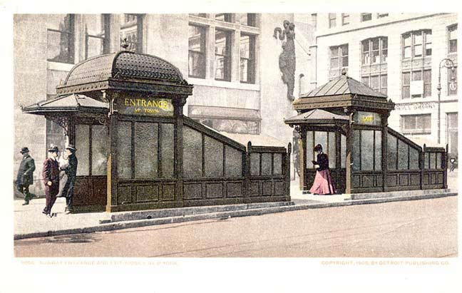 Nyc Traffic Ticket >> NYC's MOST OPULENT SUBWAY ENTRANCE - Forgotten New York