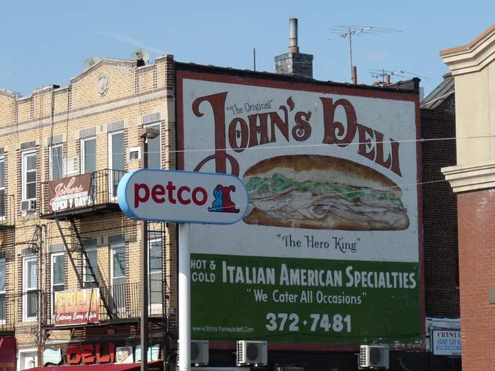 John 39 s deli gravesend forgotten new york for Furniture 86th street brooklyn