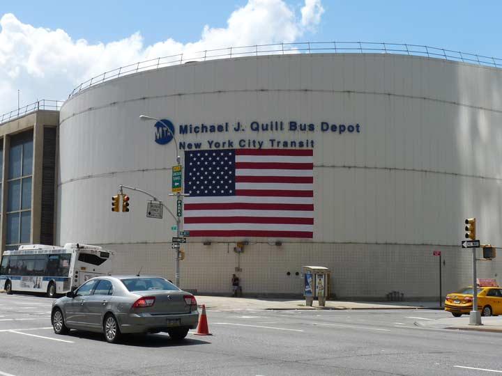 michael j. quill bus depot, hell's kitchen - forgotten new york