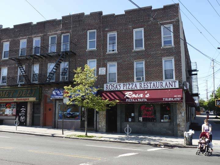 Rosas Pizza Met Ave And 78th Street Gets Good Yelp Reviews For Its Fare While A Similarly Named Venue Rosa Without The Apostrophe