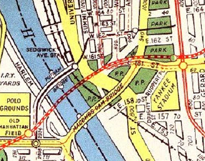 polo grounds shuttle 2017 f otten new york East New York 1970s a 1921 bromley atlas plate shows exactly where the tunnel runs below the street on the west the putnam branch shared the putnam bridge going into