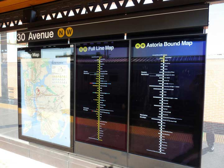 Astoria Subway Map.New Astoria Line Stations Forgotten New York
